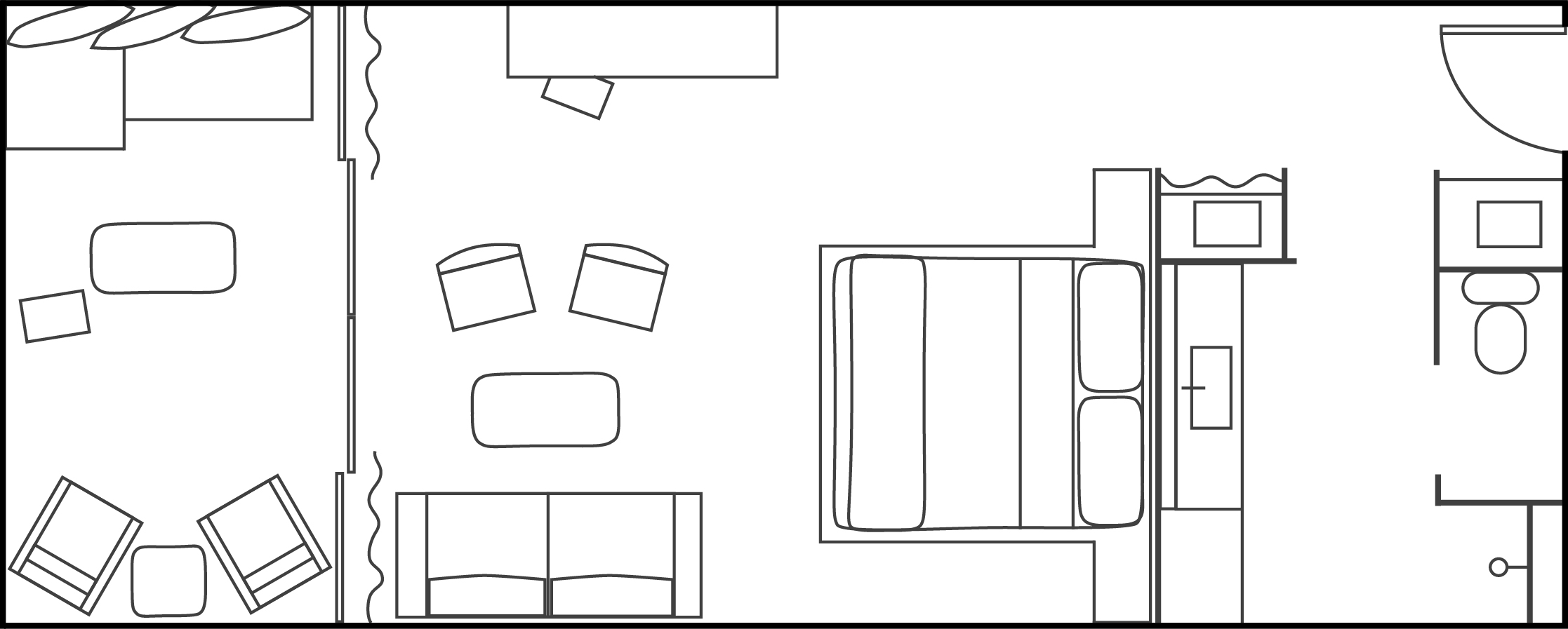 Ocean King Hotel Room Floor-plan
