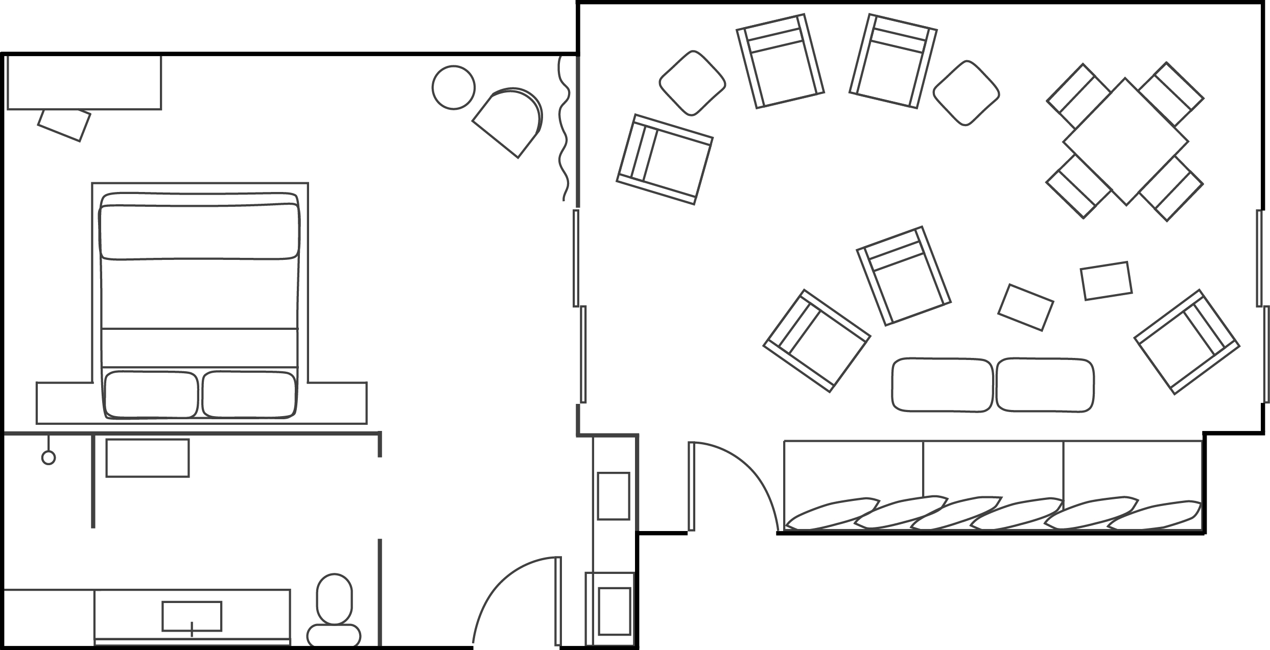 Floor Plan of Ocean Suite Room