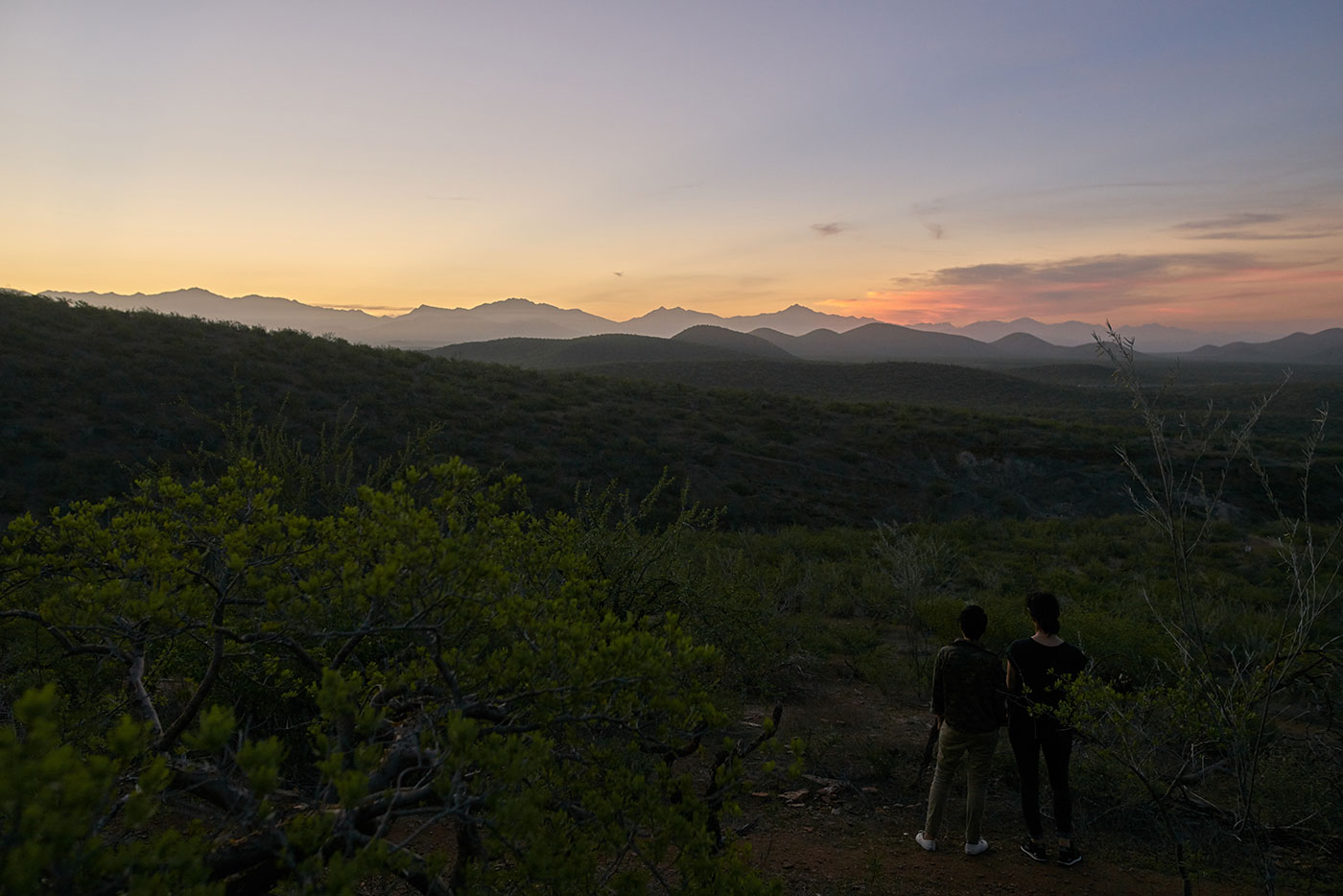 View of the Todos Santos General Mountain at sunrise
